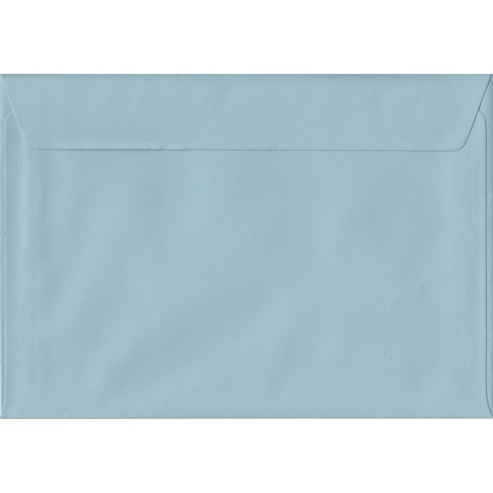 Baby Blue Pastel Peel And Seal C5 162mm x 229mm Individual Coloured Envelope