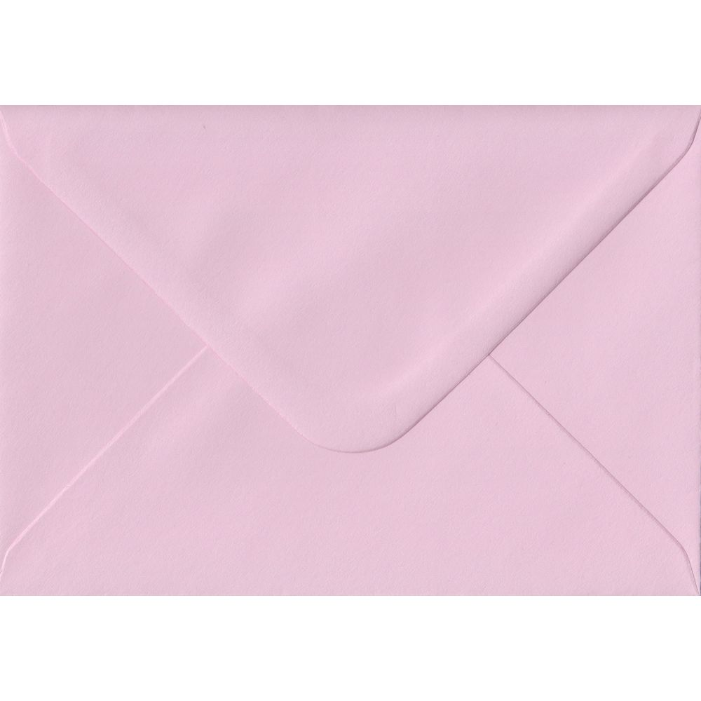 Baby Pink Pastel Gummed C6 114mm x 162mm Individual Coloured Envelope