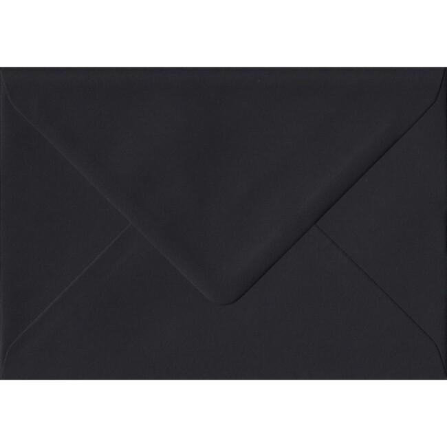 Black Premium Gummed C6 114mm x 162mm Individual Coloured Envelope