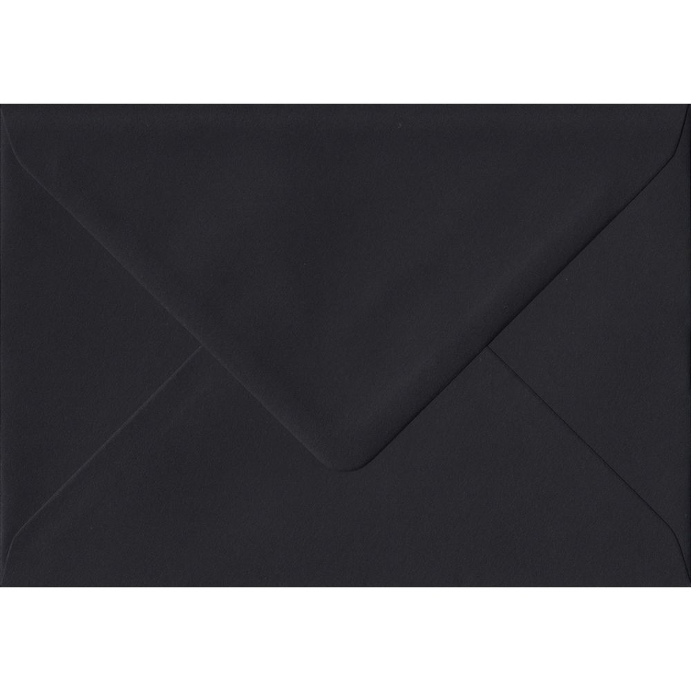 Black Premium Gummed C6 114mm x 162mm Individual Coloured Envelope