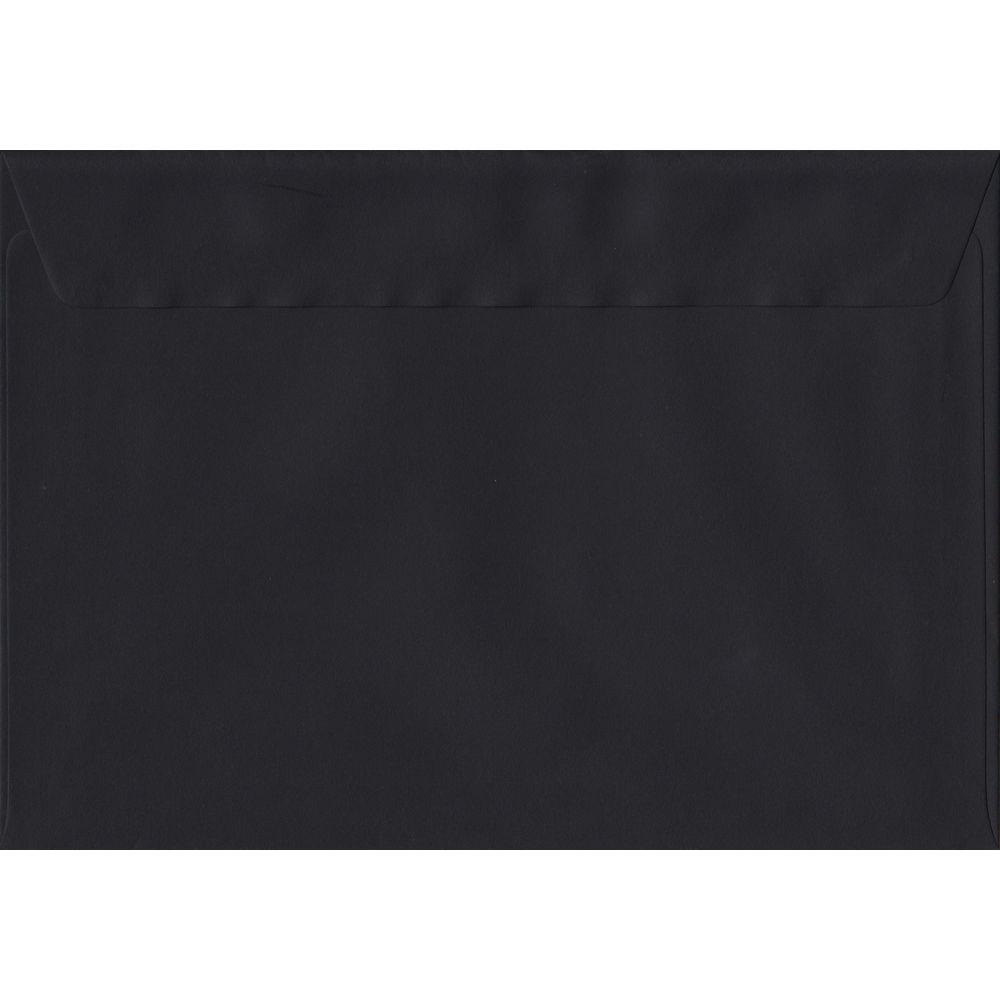 Black Premium Peel And Seal C6 114mm x 162mm Individual Coloured Envelope