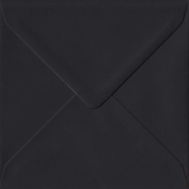 Black Premium Gummed S4 155mm x 155mm Individual Coloured Envelope