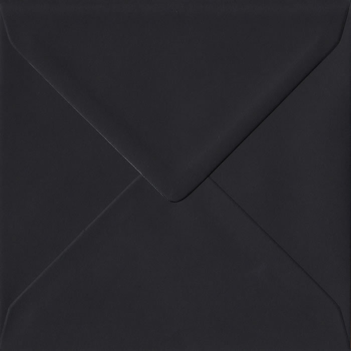 Black Premium Gummed S4 155mm x 155mm Individual Coloured Envelope