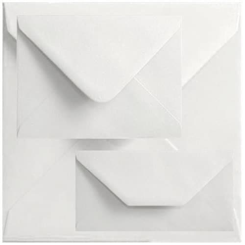 Economy Box Of 1000 71mm x 71mm White Square Envelopes