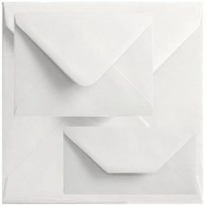 Economy Box Of 1000 89mm x 89mm White Square Envelopes