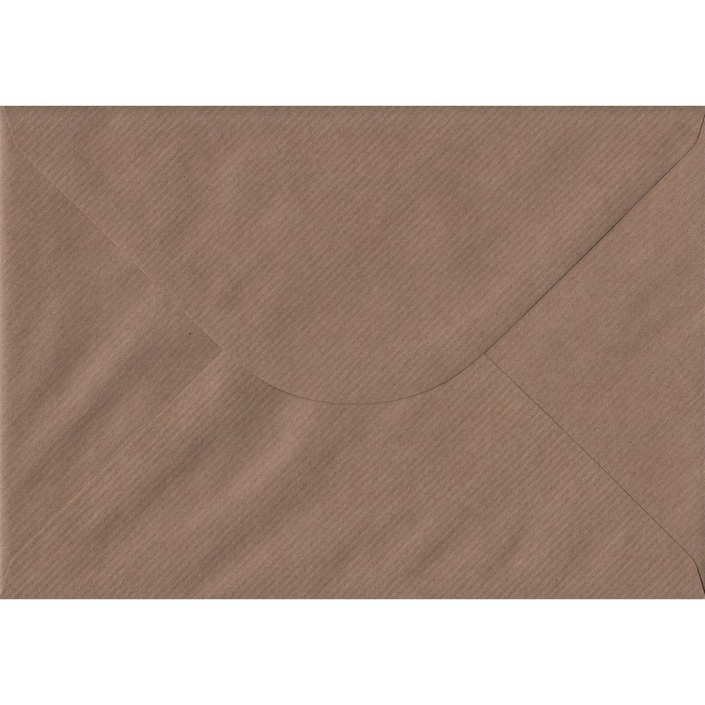 Brown Ribbed Premium Gummed C5 162mm x 229mm Individual Coloured Envelope