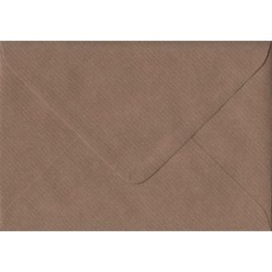 Brown Ribbed Premium Gummed C6 114mm x 162mm Individual Coloured Envelope
