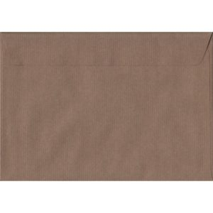 Brown Ribbed Premium Peel And Seal C5 162mm x 229mm Individual Coloured Envelope