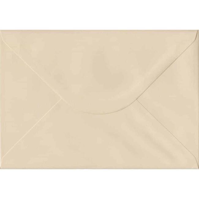 Cream Pastel Gummed C5 162mm x 229mm Individual Coloured Envelope