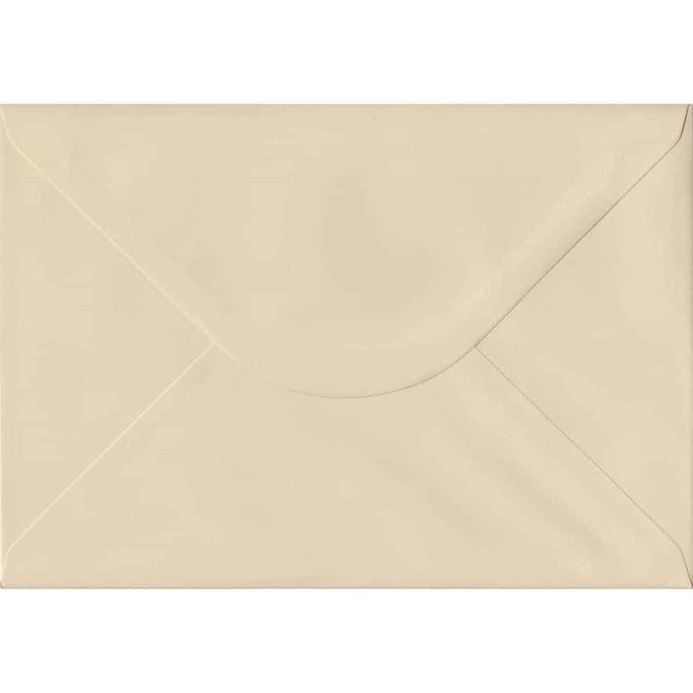 Cream Pastel Gummed C5 162mm x 229mm Individual Coloured Envelope