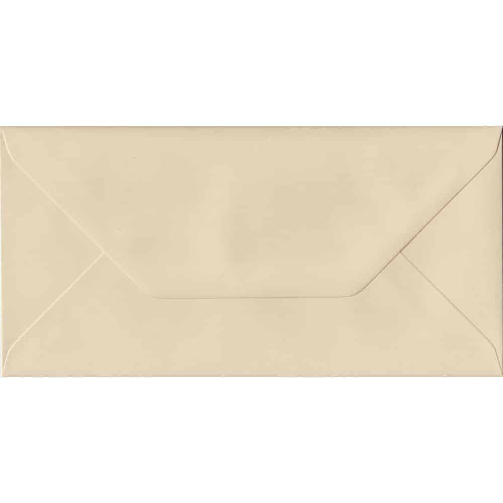 Cream Pastel Gummed DL 110mm x 220mm Individual Coloured Envelope