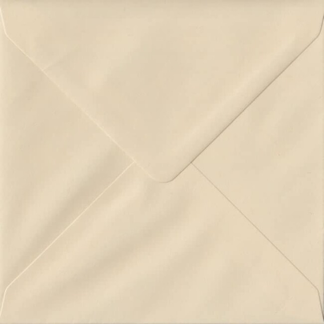 Cream Pastel Gummed S4 155mm x 155mm Individual Coloured Envelope