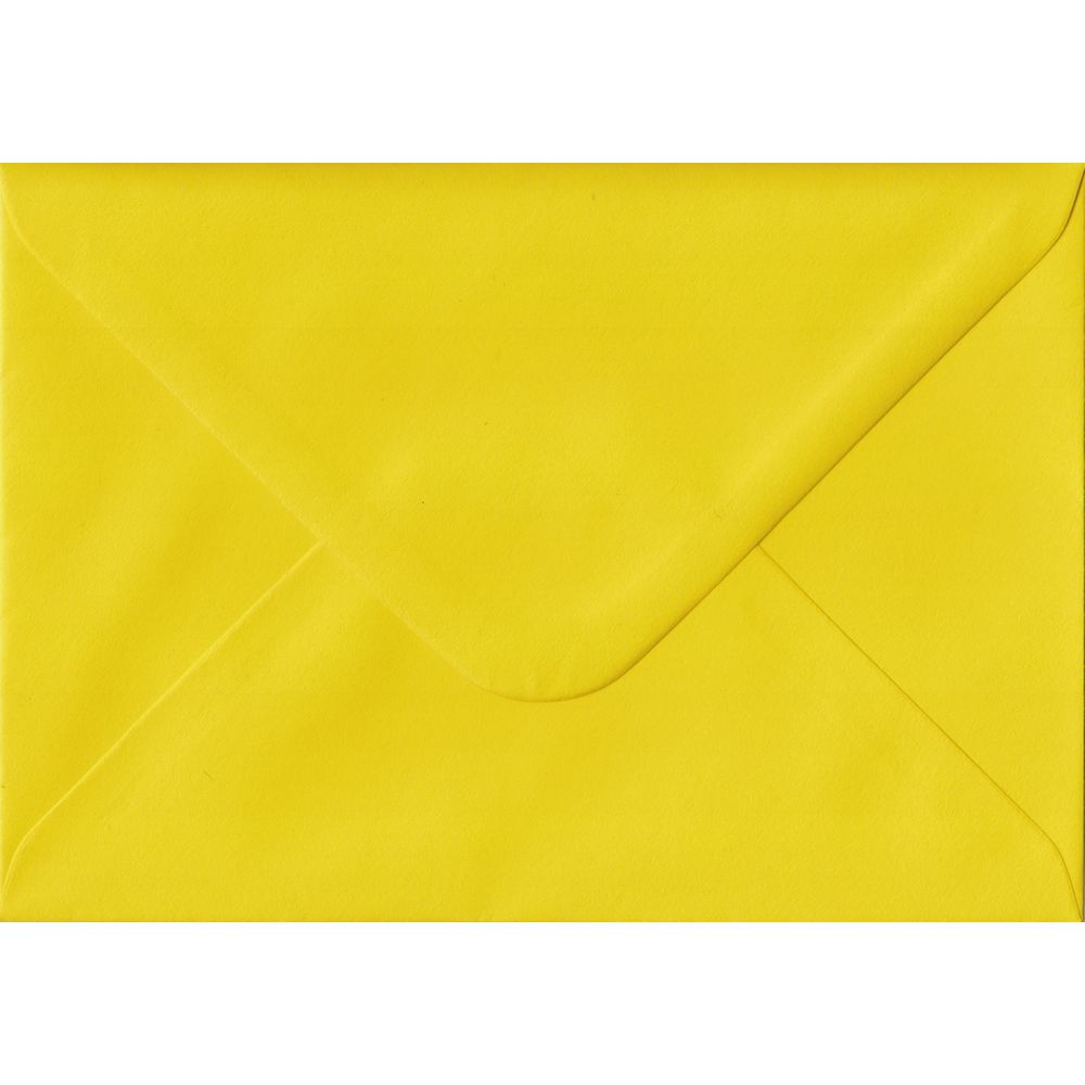 Daffodil Yellow Plain Gummed C6 114mm x 162mm Individual Coloured Envelope