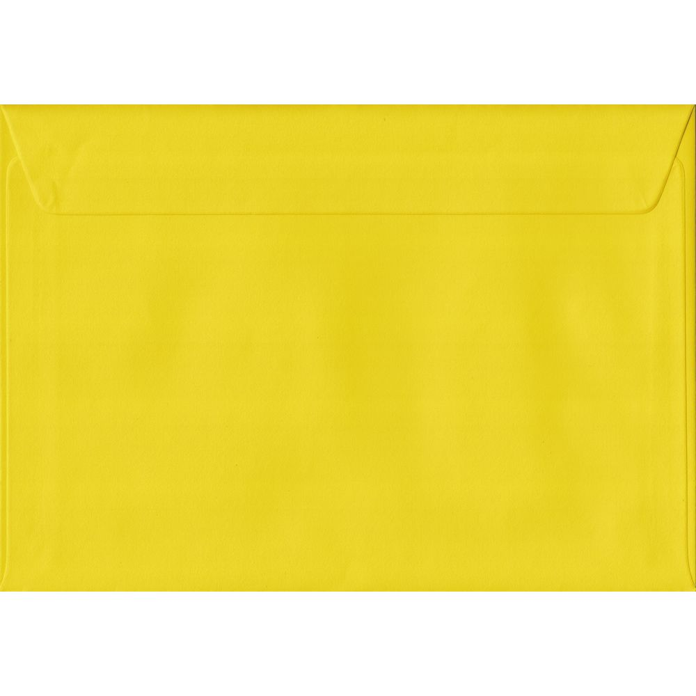Daffodil Yellow Plain Peel And Seal C5 162mm x 229mm Individual Coloured Envelope