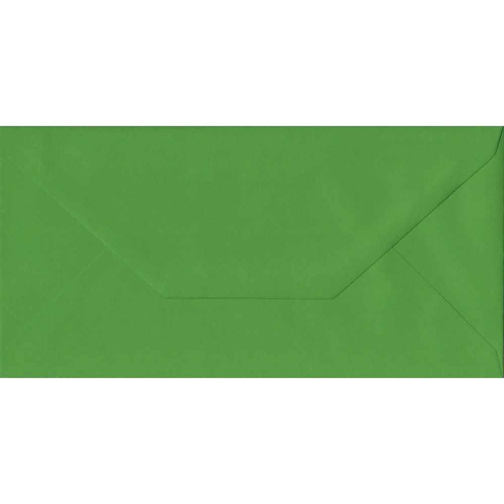Fern Green Plain Gummed DL 110mm x 220mm Individual Coloured Envelope