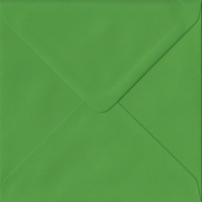 Fern Green Plain Gummed S4 155mm x 155mm Individual Coloured Envelope