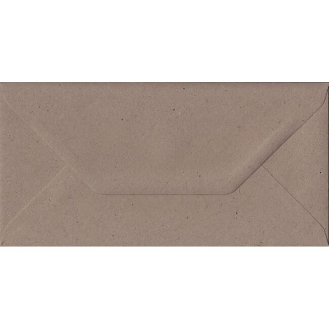 Fleck Craft Recycled Gummed DL 110mm x 220mm Individual Coloured Envelope
