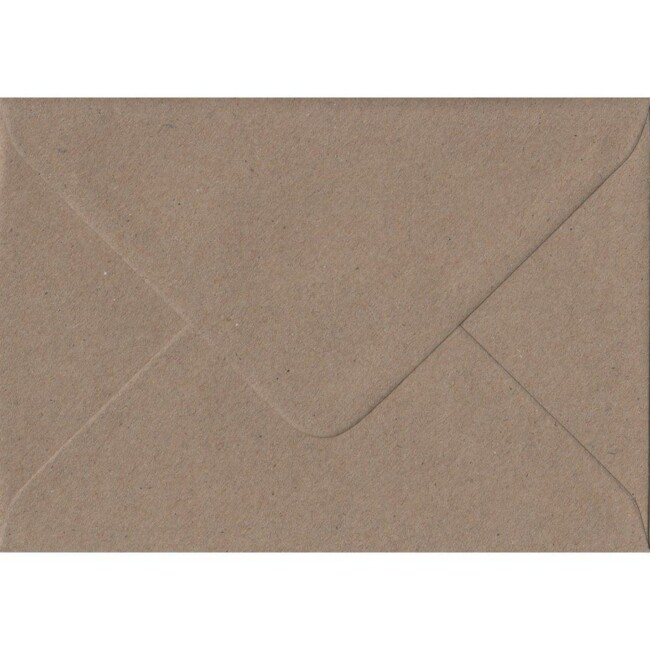 Fleck Kraft 82mm x 113mm 100gsm Gummed C7/A7 Sized Envelope