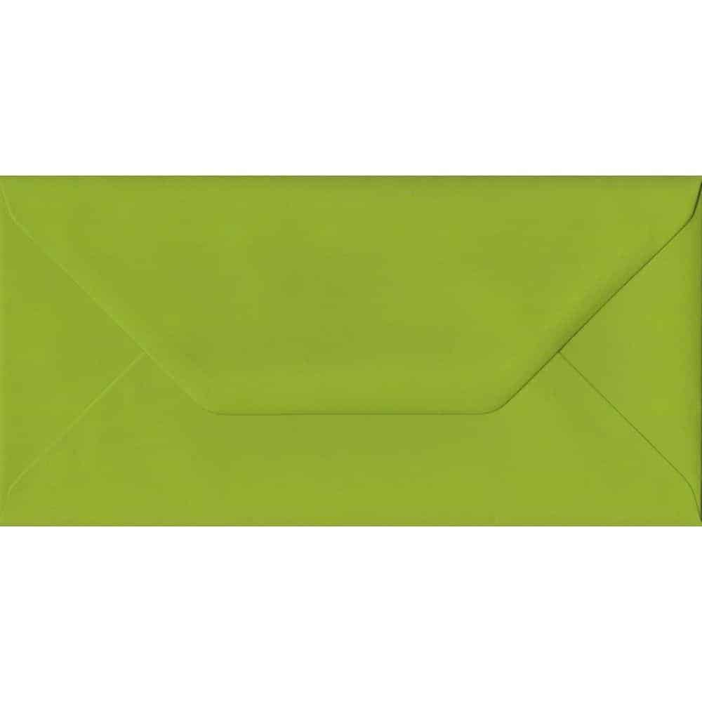 Fresh Green Plain Gummed DL 110mm x 220mm Individual Coloured Envelope