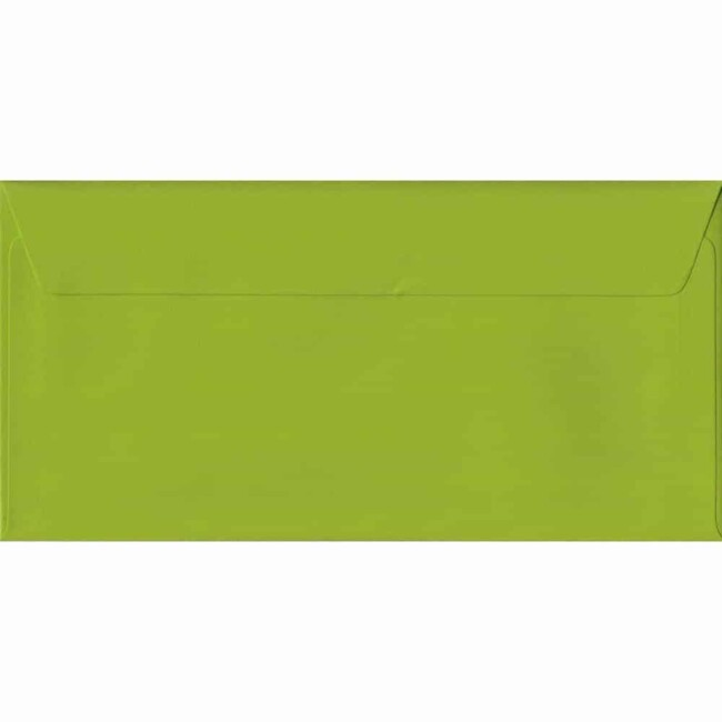 Fresh Green Plain Peel And Seal DL 110mm x 220mm Individual Coloured Envelope