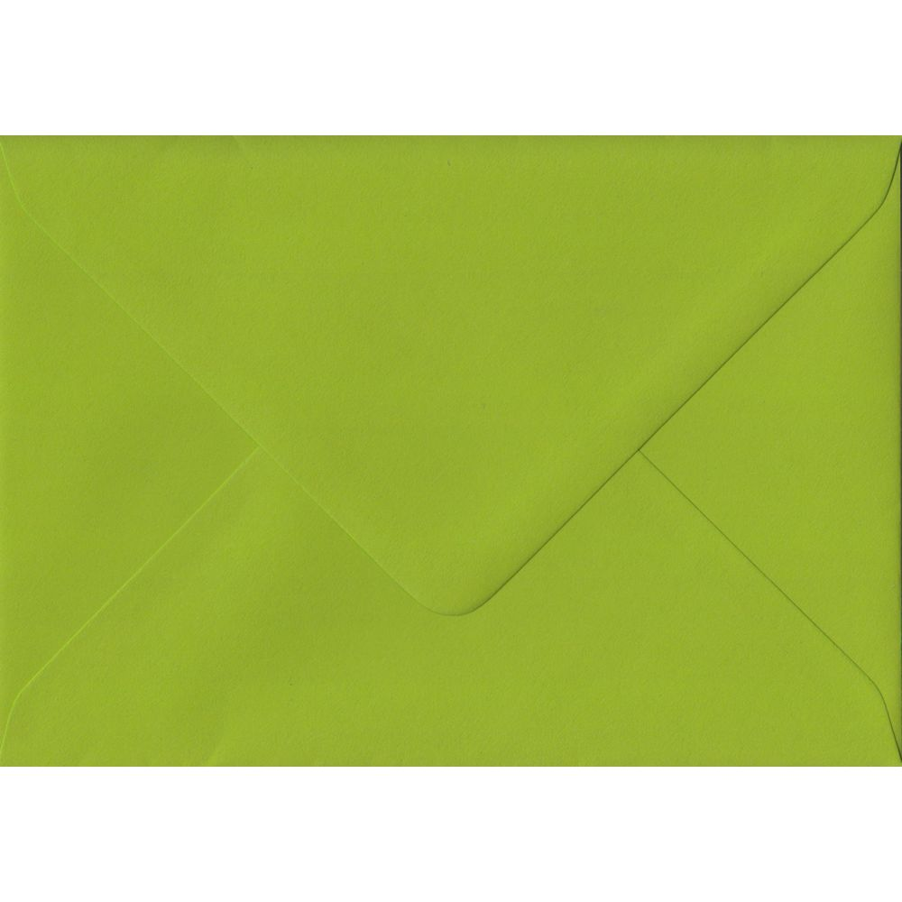 Fresh Green Plain Gummed C6 114mm x 162mm Individual Coloured Envelope