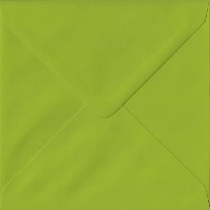Fresh Green Plain Gummed S4 155mm x 155mm Individual Coloured Envelope