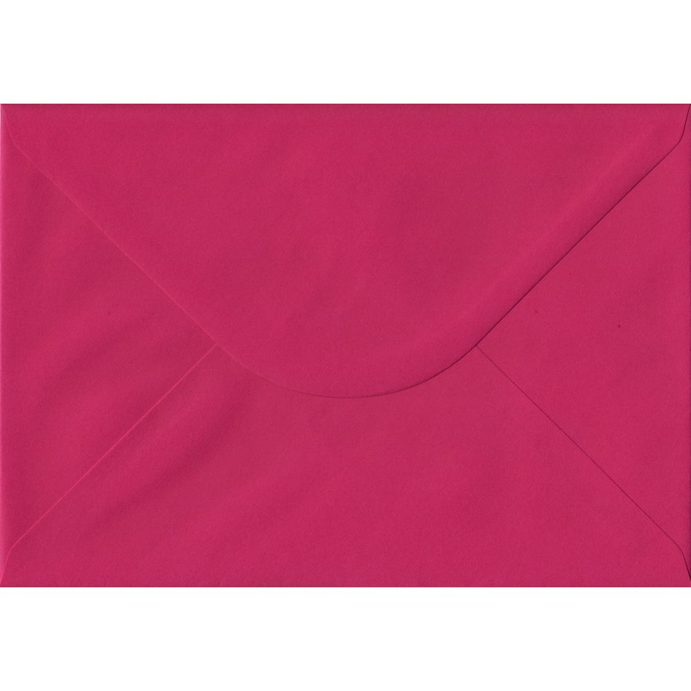 Fuchsia Pink Plain Gummed C5 162mm x 229mm Individual Coloured Envelope