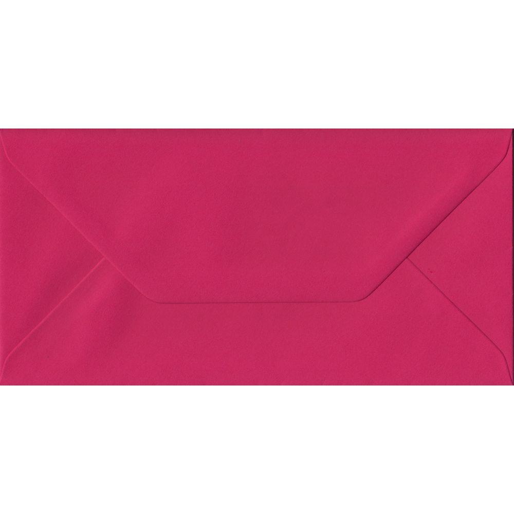 Fuchsia Pink Plain Gummed DL 110mm x 220mm Individual Coloured Envelope