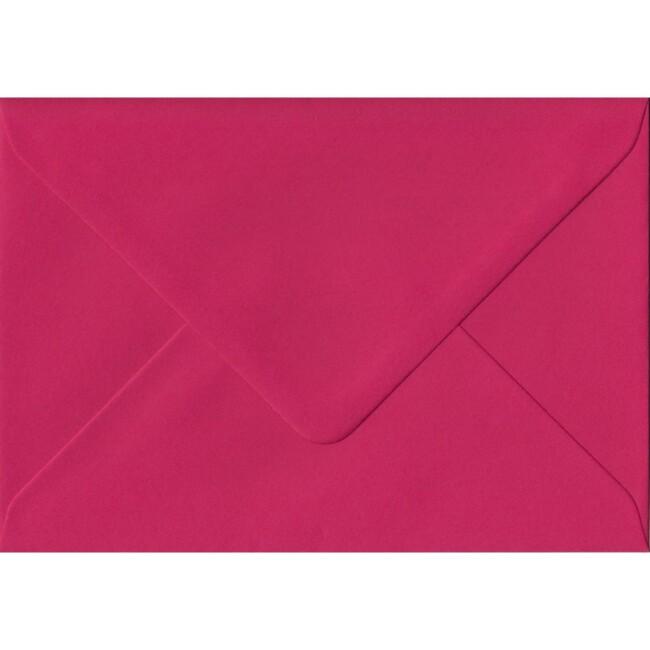 Fuchsia Pink Plain Gummed C6 114mm x 162mm Individual Coloured Envelope