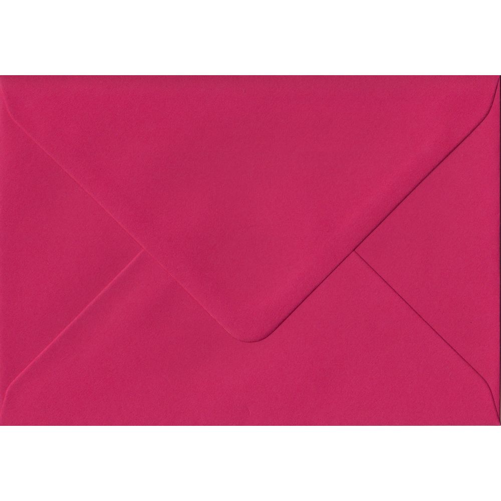 Fuchsia Pink Plain Gummed C6 114mm x 162mm Individual Coloured Envelope