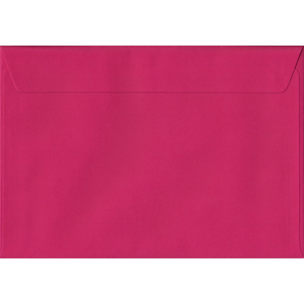 Fuchsia Pink Plain Peel And Seal C6 114mm x 162mm Individual Coloured Envelope