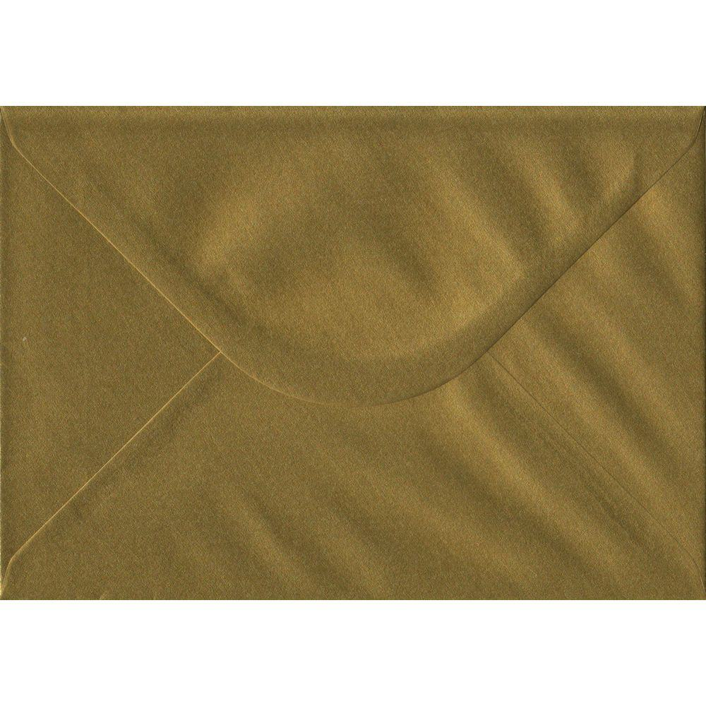 Gold Metallic Gummed C5 162mm x 229mm Individual Coloured Envelope