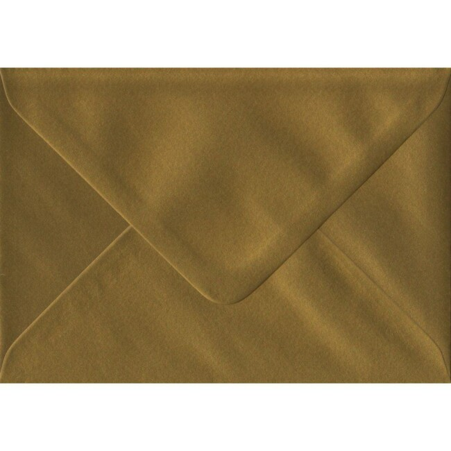 Gold Metallic Gummed C6 114mm x 162mm Individual Coloured Envelope