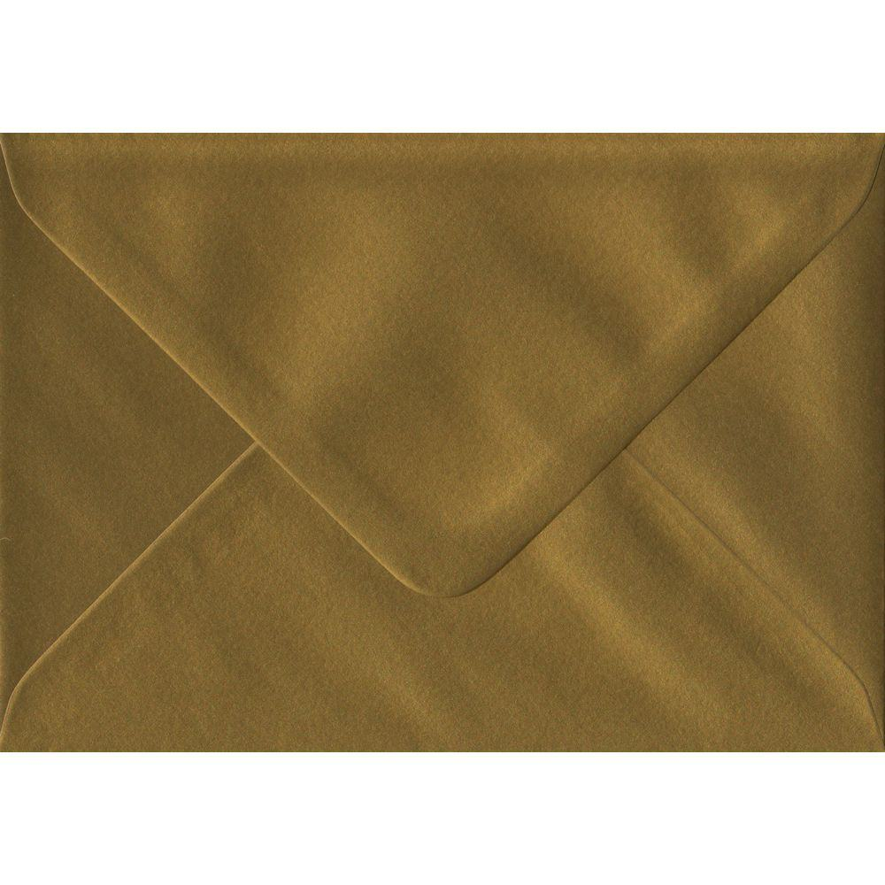 Gold Metallic Gummed C6 114mm x 162mm Individual Coloured Envelope