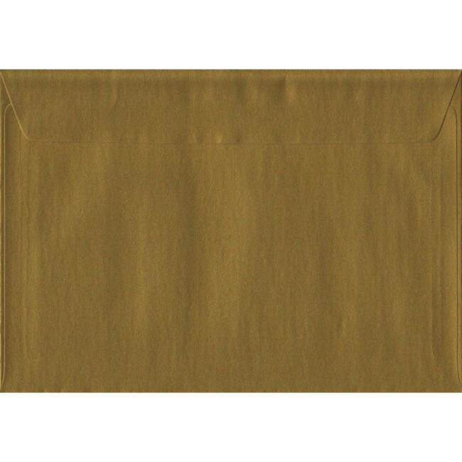 Gold Metallic Peel And Seal C5 162mm x 229mm Individual Coloured Envelope