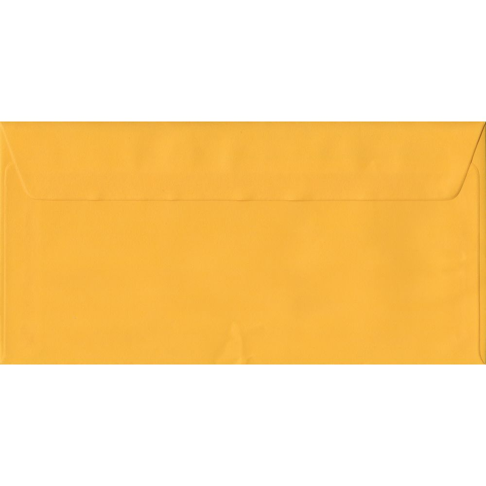 Golden Yellow Plain Peel And Seal DL 110mm x 220mm Individual Coloured Envelope