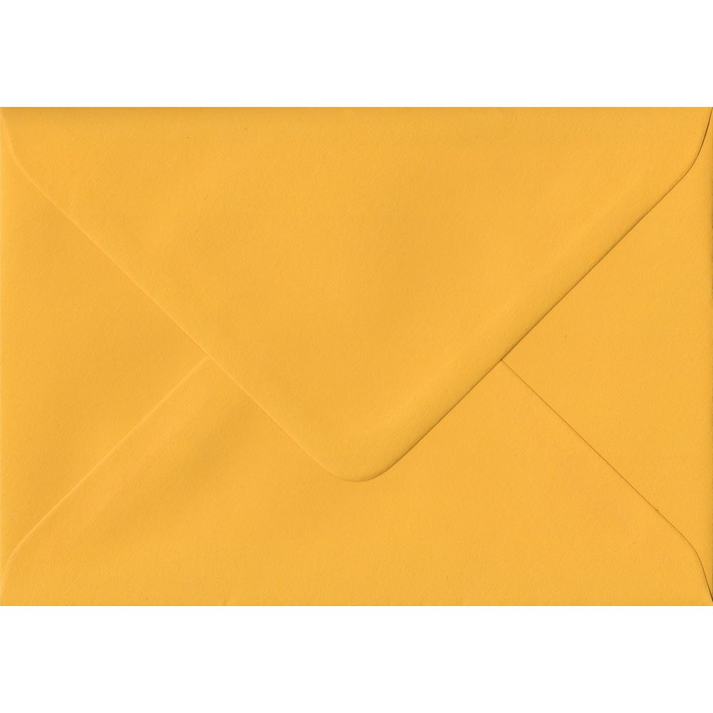 Golden Yellow Plain Gummed Place Card 70mm x 110mm Individual Coloured Envelope