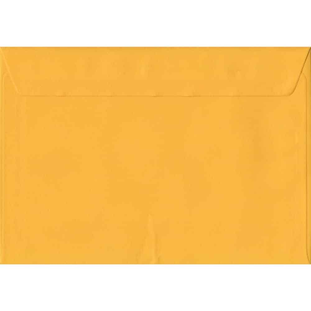 Golden Yellow Plain Peel And Seal C5 162mm x 229mm Individual Coloured Envelope