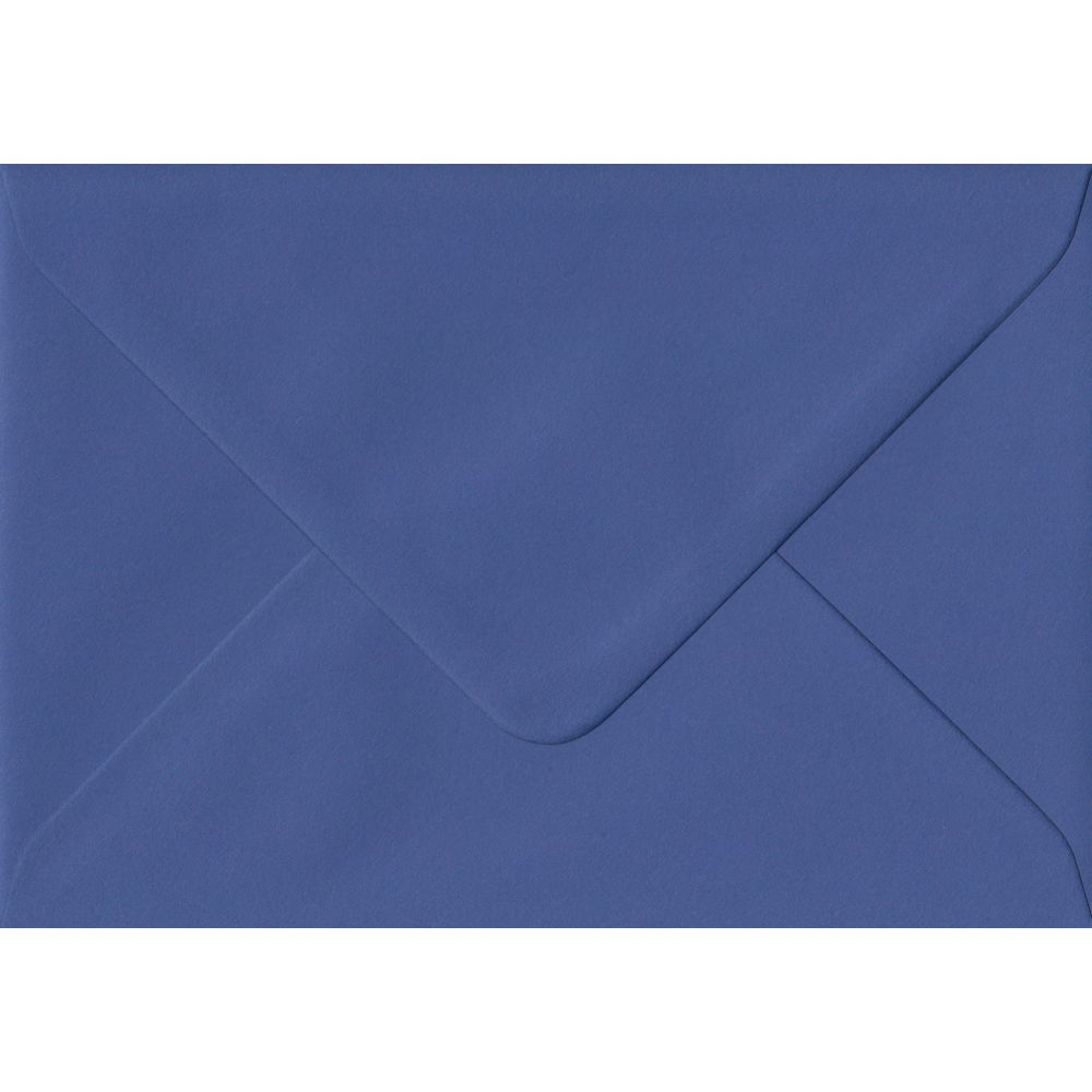 Iris Blue Plain Gummed C6 114mm x 162mm Individual Coloured Envelope