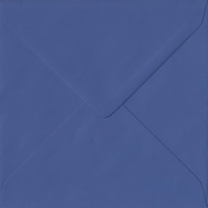 Iris Blue Plain Gummed S4 155mm x 155mm Individual Coloured Envelope