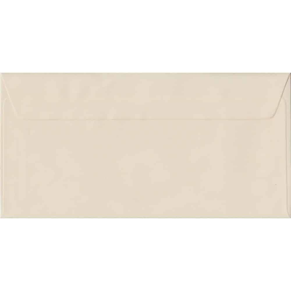 Ivory Pastel Peel And Seal DL 110mm x 220mm Individual Coloured Envelope