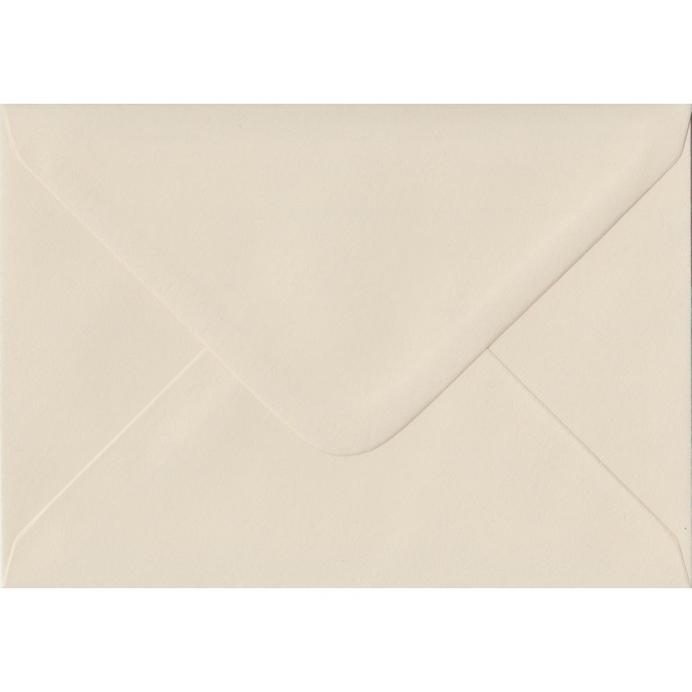 Ivory Pastel Gummed C6 114mm x 162mm Individual Coloured Envelope