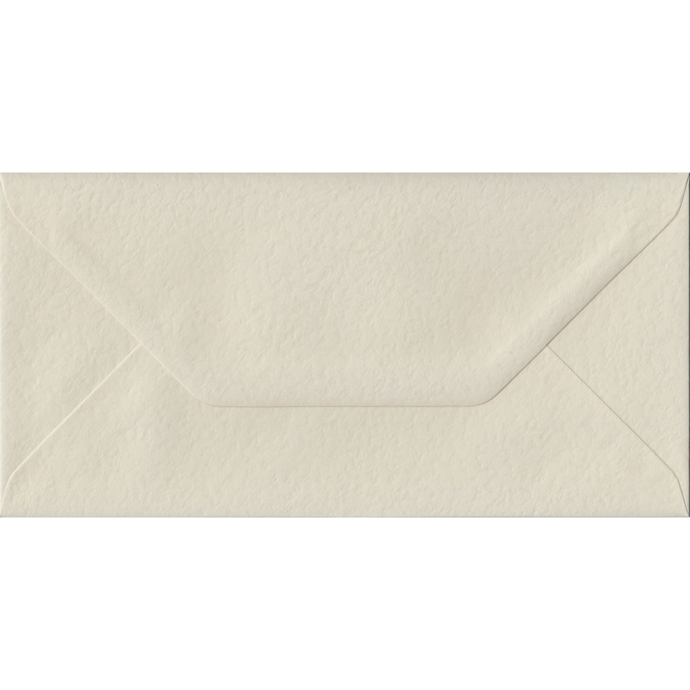 Ivory Hammer Textured Gummed DL 110mm x 220mm Individual Coloured Envelope