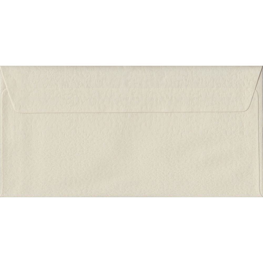 Ivory Hammer Textured Peel And Seal DL 110mm x 220mm Individual Coloured Envelope