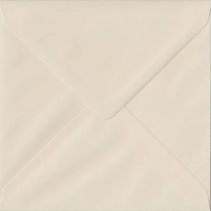 Ivory Pastel Gummed S4 155mm x 155mm Individual Coloured Envelope