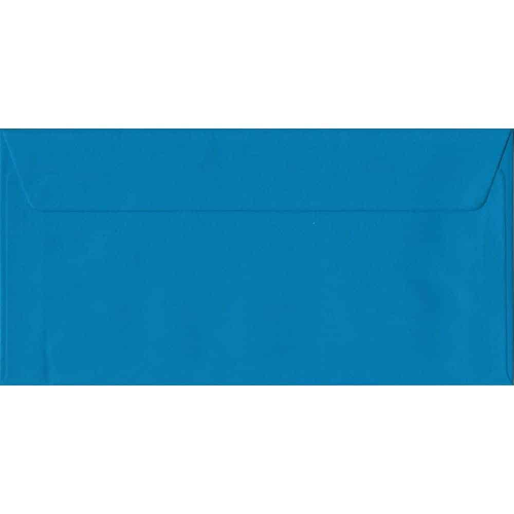 Kingfisher Blue Plain Peel And Seal DL 110mm x 220mm Individual Coloured Envelope