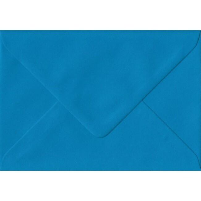 Kingfisher Blue Plain Gummed Place Card 70mm x 110mm Individual Coloured Envelope