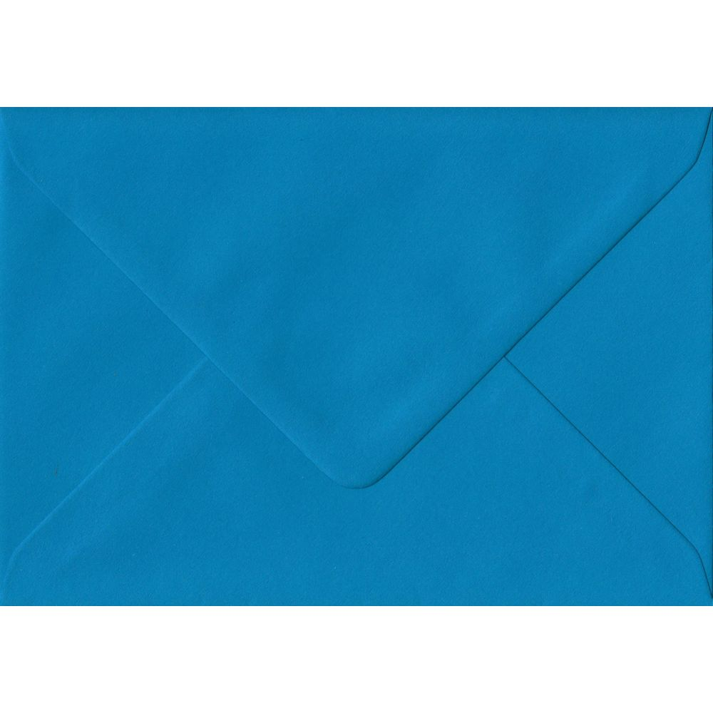 Kingfisher Blue Plain Gummed Place Card 70mm x 110mm Individual Coloured Envelope