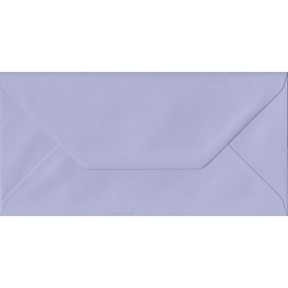Lilac Pastel Gummed DL 110mm x 220mm Individual Coloured Envelope