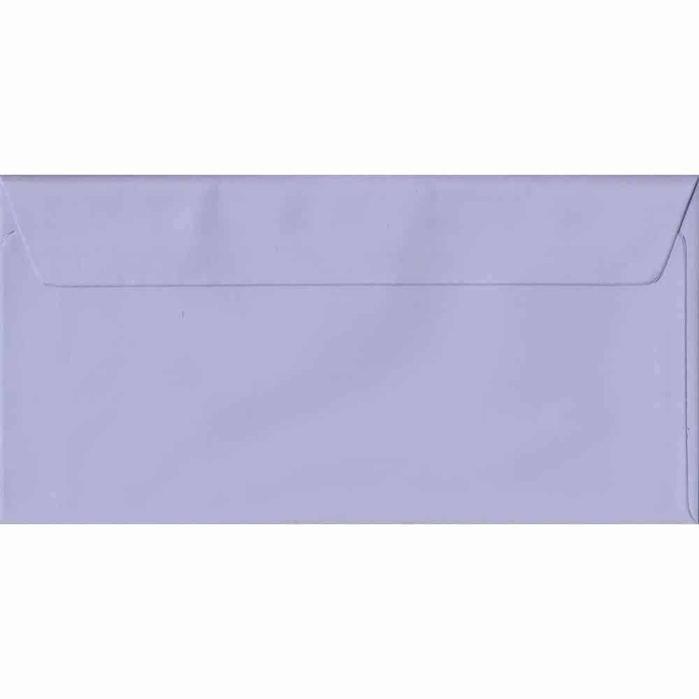 Lilac Pastel Peel And Seal DL 110mm x 220mm Individual Coloured Envelope